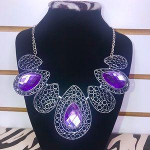 Tear Drop Purple Necklace 💕